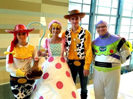 You have a friend in these Toy Story cosplayers at Phoenix Comic Fest, Sunday, May 27, 2018, at the Phoenix Convention Center.