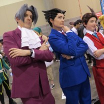 Triple objection from this group of Phoenix Wright cosplayers. Photo by Justin Franco.