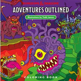 Punk-rock\' D&D coloring book coming from artist Todd James ...