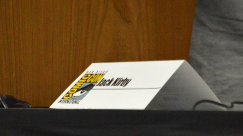 An honorary name placard for the late Jack Kirby.
