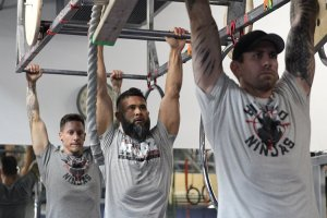 One of the greatest challenges in ninja-warrior training is developing the grip strength to complete the obstacles, ninja trainer Steve Kimpton says. (Photo by Margaret Naczek/Cronkite News)