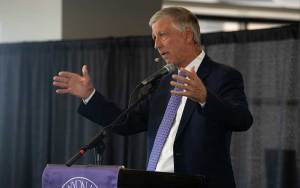 Brian Mueller, president of Grand Canyon University in Phoenix, announced the school will return to operating as a nonprofit organization. The institution has operated as a for-profit university since 2004, when it faced possible closure due to mounting debt. (Photo by Nick Serpa/Cronkite News)