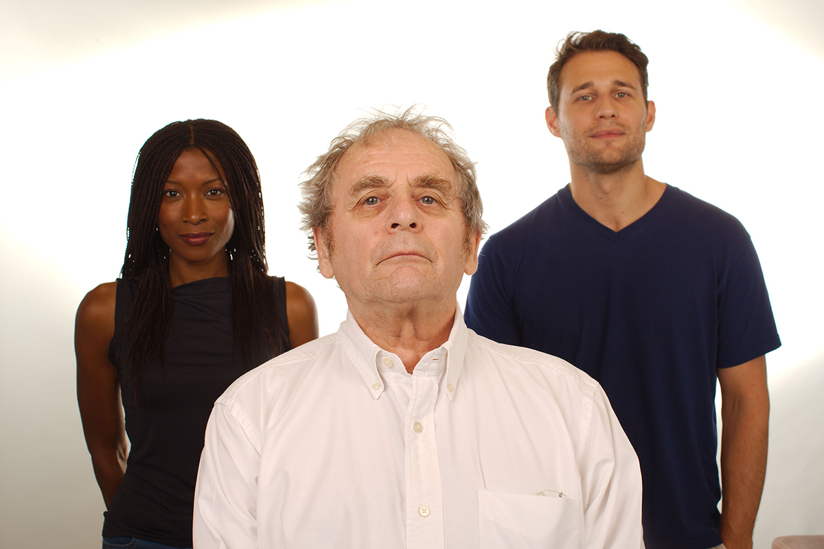 Yasmin Bannerman, Sylvester McCoy and Travis Oliver