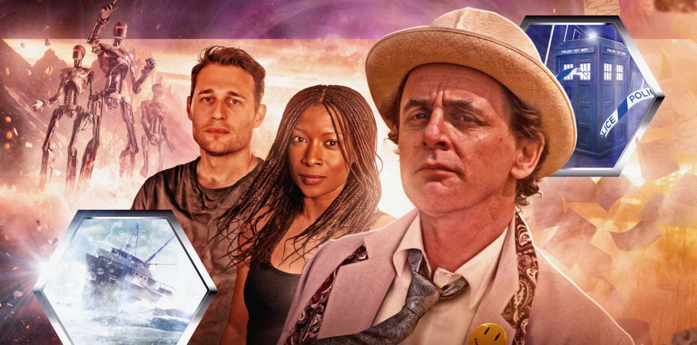 Coming out this November, Sylvester McCoy's calculating and comic Doctor returns with two companions from the Virgin Books' New Adventures of Doctor Who: Yasmin Bannerman plays Roz Forrester and Travis Oliver plays Chris Cwej in Doctor Who – The New New Adventures.