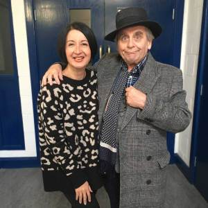 Jessica Martin is Mags and Sylvester McCoy is the Seventh Doctor