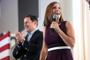 Rep. Martha McSally, R-Tucson, and Gov. Doug Ducey in October, when she was still a candidate for Senate. She lost that race to Sen.-elect Kyrsten Sinema, a Democrat, but Ducey on Tuesday tapped McSally to replace the late Sen. John McCain and serve alongside Sinema. (