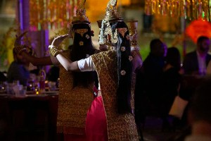 Members of the Arizona Cambodian Dancers performed a traditional dance at the So Good Food and Film Festival. Organizers included as many Asian cultures as they could through entertainment, food and decor for the evening. (Photo by Vivian Meza/Cronkite News)