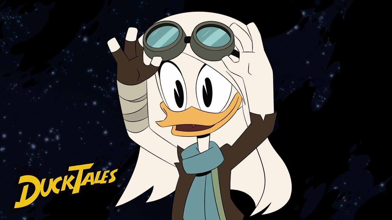 DuckTales Della Duck on the moon singing lullabye