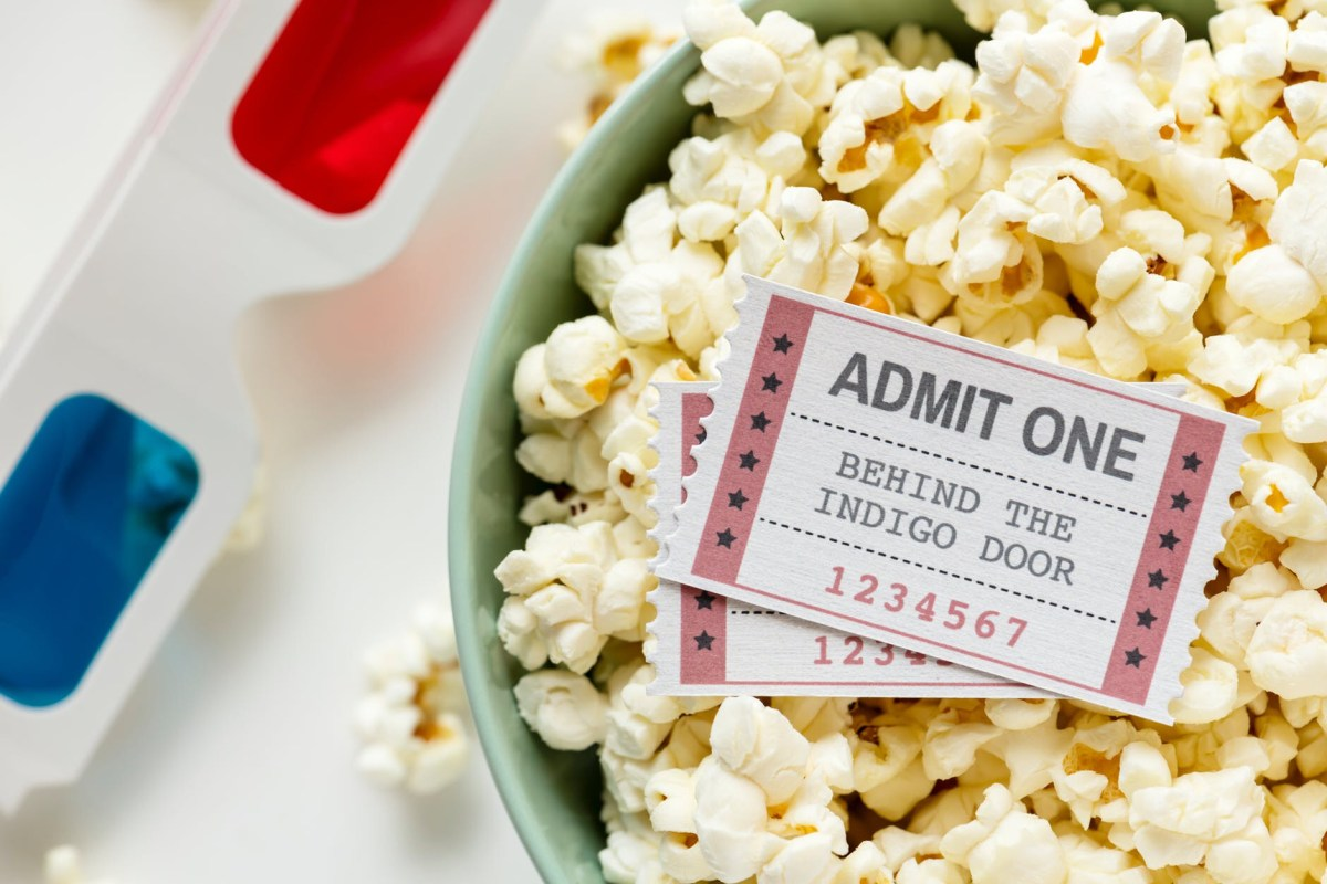 movie ticket admit one popcorn bucket 3d glasses