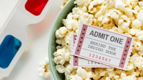 movie ticket admit one popcorn bucket 3d glasses