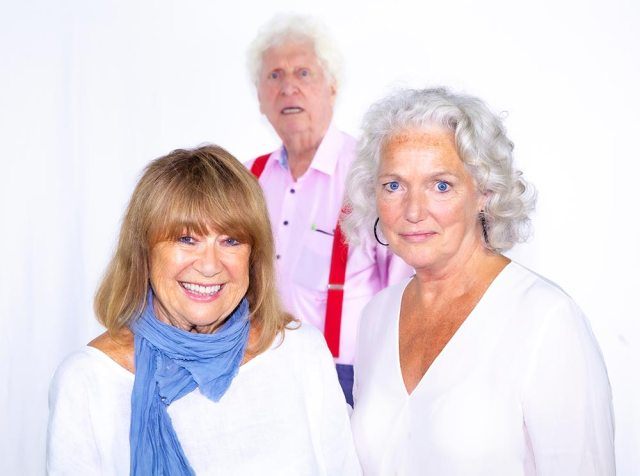 Tom Baker back as Doctor Who with Louise Jameson and Nerys Hughes