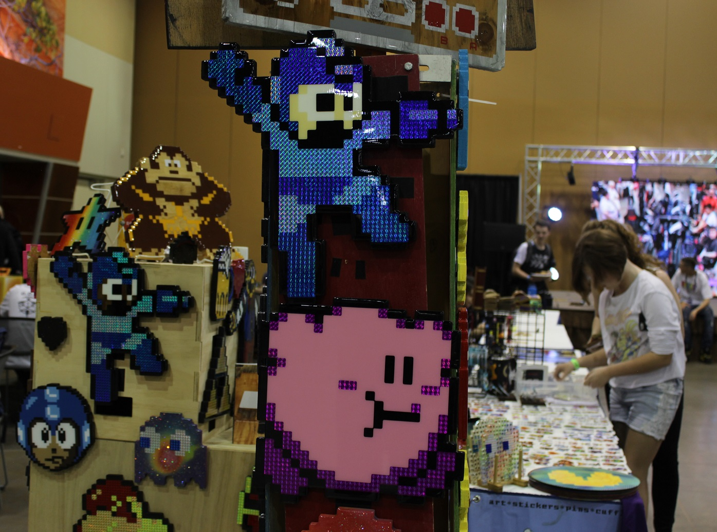 Various offerings were available in the artist alley. Photo by Justin Franco.