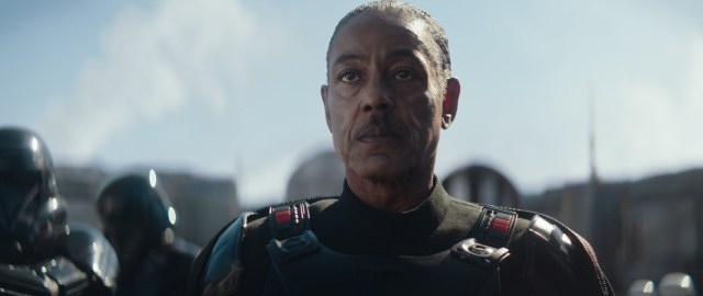 Caption : Giancarlo Esposito is Mof Gideon in the Disney+ series THE MANDALORIAN. Byline : Lucasfilm Ltd. Copyright : (C) 2019 Lucasfilm Ltd. All Rights Reserved.