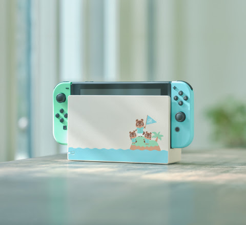 Animal Crossing themed Nintendo Switch system