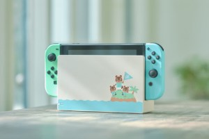 Animal Crossing themed Nintendo Switch system