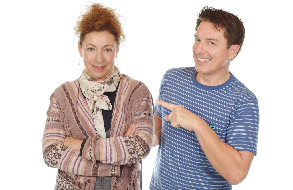 Alex Kingston and John Barrowman (Big Finish Productions)