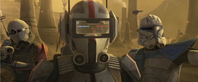 Crosshair, Tech and Captain Rex in STAR WARS: THE CLONE WARS, exclusively on Disney+.