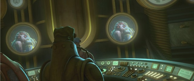 Wat Tambor and Admiral Trench plot a trap for General Skywalker and the clones in STAR WARS: THE CLONE WARS, exclusively on Disney+.