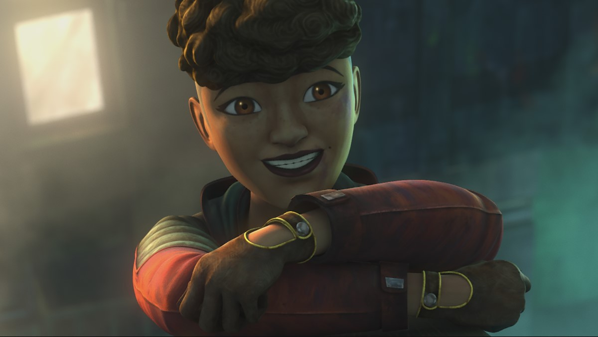 Aspiring pilot Trace Martez in STAR WARS: THE CLONE WARS, exclusively on Disney+.
