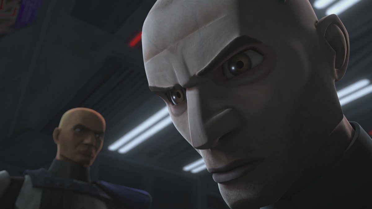 Clone Captain Rex and Arc Trooper Echo in STAR WARS: THE CLONE WARS, exclusively on Disney+.