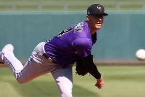 If Major League Baseball follows through on an idea it is considering, Colorado Rockies pitcher Jeff Hoffman could be playing at one of Arizona's spring training stadiums soon. (Photo by Reno Del Toro/Cronkite News)