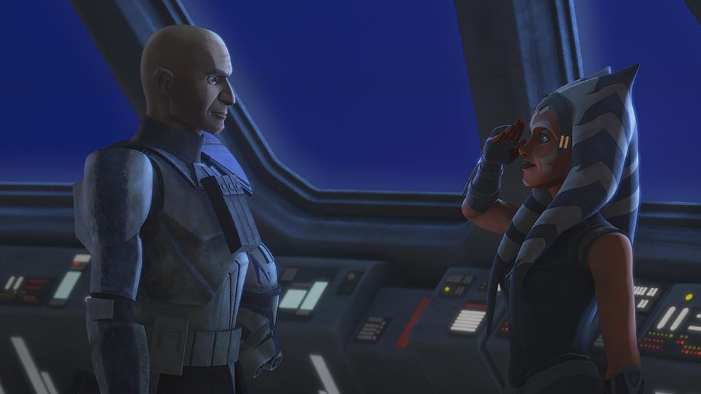 Rex and Ahsoka in STAR WARS: THE CLONE WARS, exclusively on Disney+.