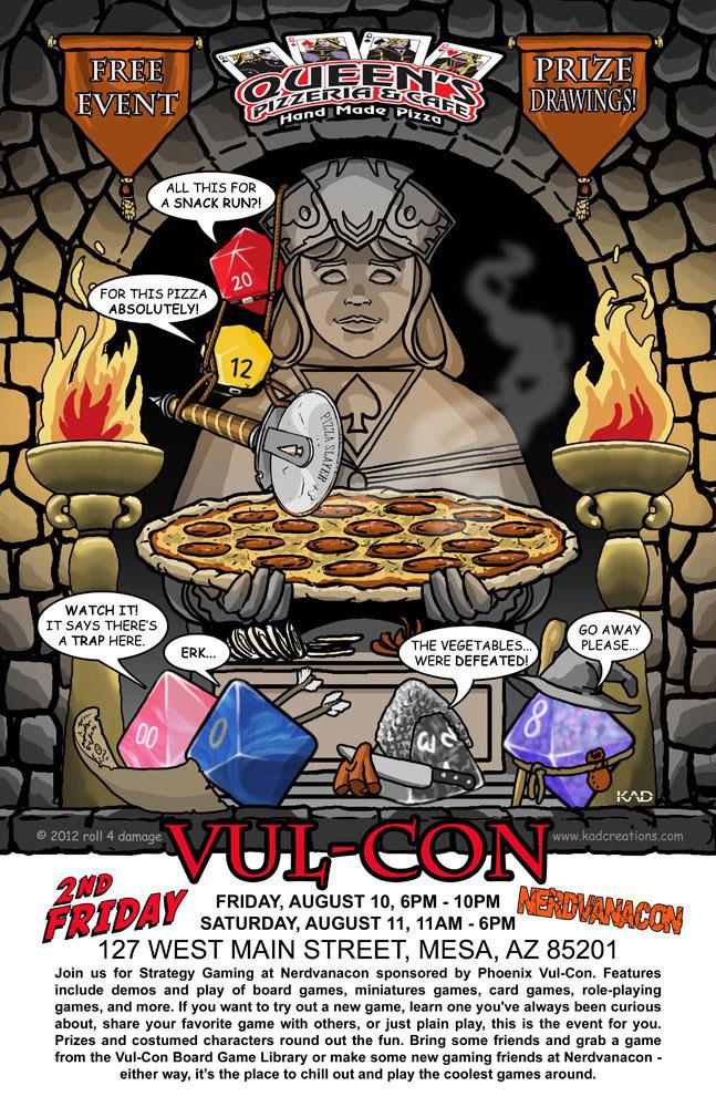 NerdvanCon Vul-Con Queen's Pizzeria Downtown Mesa 2012