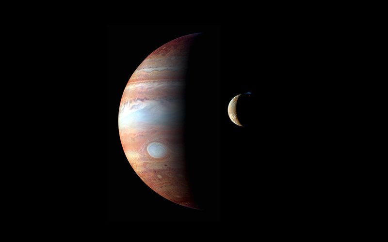 As Jupiter dazzles in the night sky, new research suggests its moons are warming each other