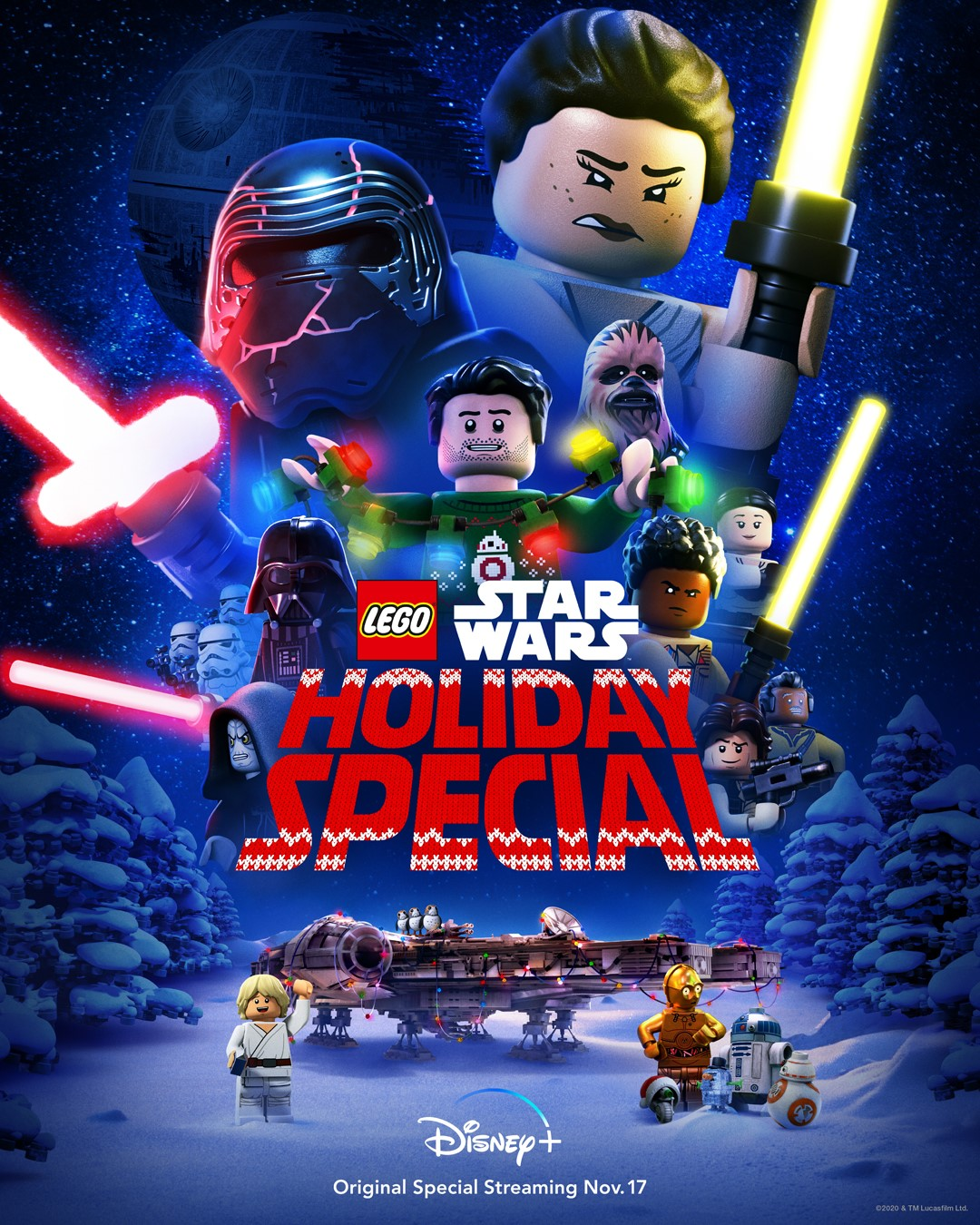 LEGO Star Wars Holiday Special Trailer Takes Rey to the Past