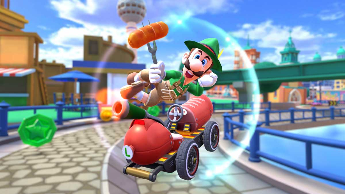 Luigi dons Lederhosen as Mario Kart Tour heads to Berlin
