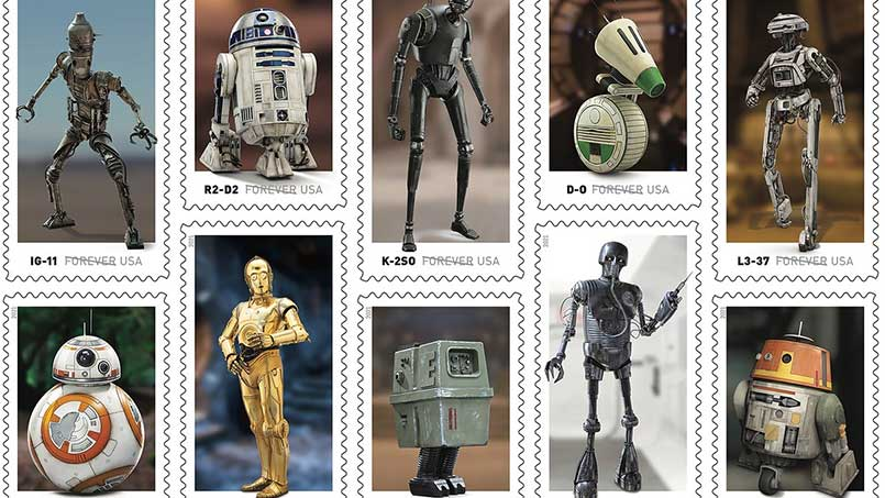 These Star Wars stamps are the droids you're licking for …
