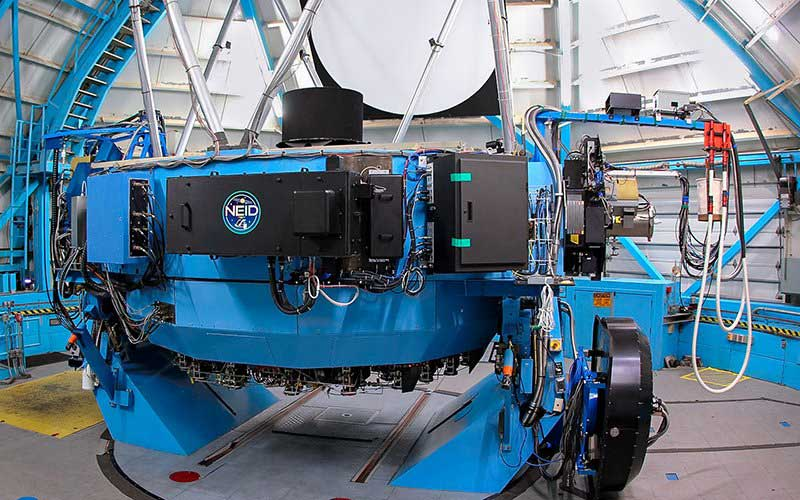 The NEID spectrometer looks for Earth-like planets outside our solar system by measuring slight changes in the light coming from distant stars. (Photo courtesy of the National Science Foundation)