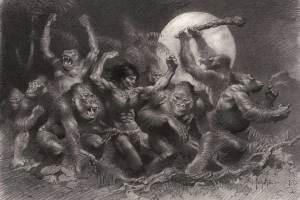 """Frank Frazetta, """"Tarzan at the Dum Dum"""""""