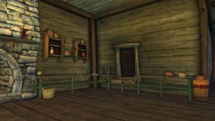Rift Tavern kitchen shelves