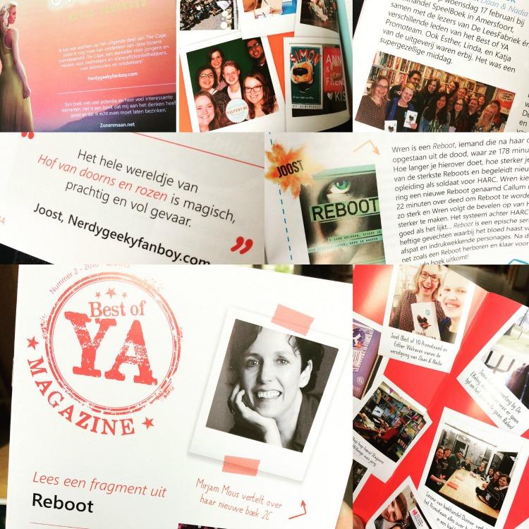 Dankzij uitgeverijen kan je als blogger (en zelfs als lezer) hele gave dingen meemaken, zoals genoemd worden in het Best of YA Magazine of de glossy van Blossom Books!