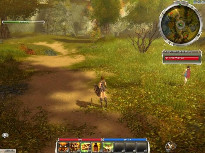 Guild Wars Erster Screenshot Kriegerin