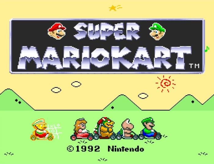 Super Mario Kart Super Ninendo