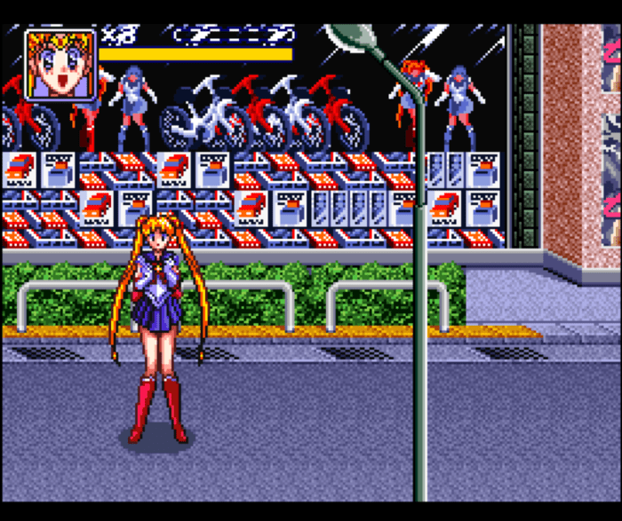 Sailor Moon Beat em Up SNES Super Nintendo Europa