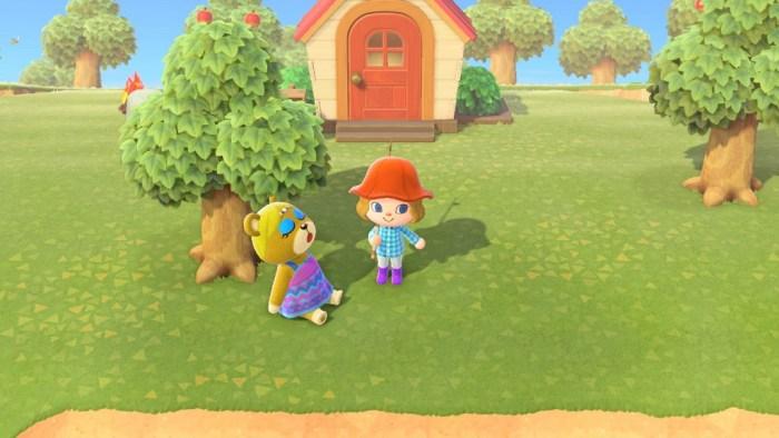 Animal Crossing New Horizons Bewohner Paula schläft nerdyhasche