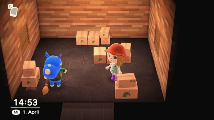 Animal Crossing New Horizons Rüdiger zieht ein nerdyhasche