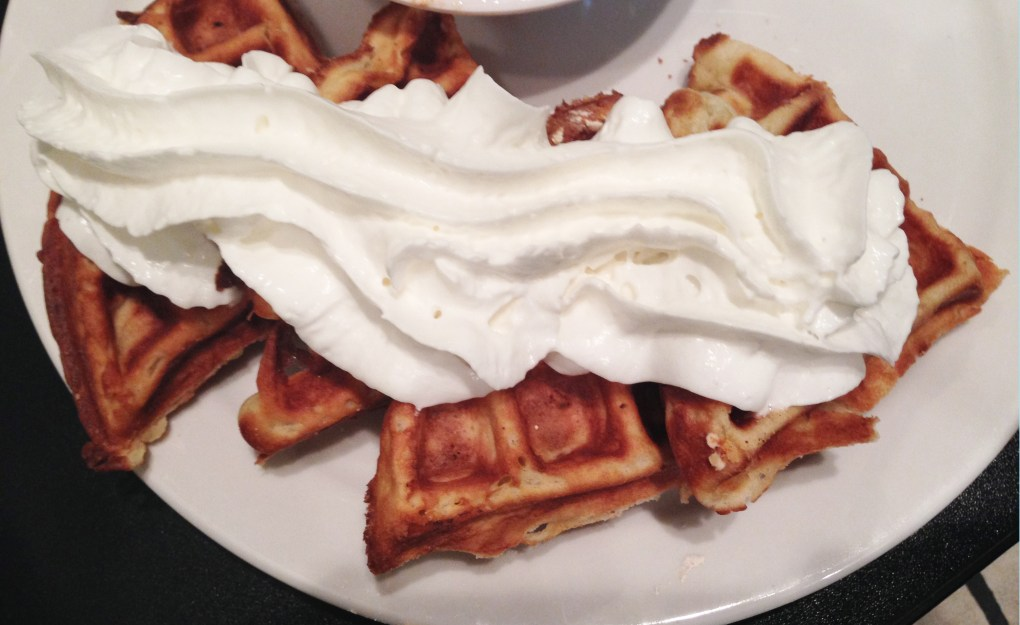 Gluten Free Waffles from Wild Wood Bakehouse, one of two gluten free restaurants in austin texas