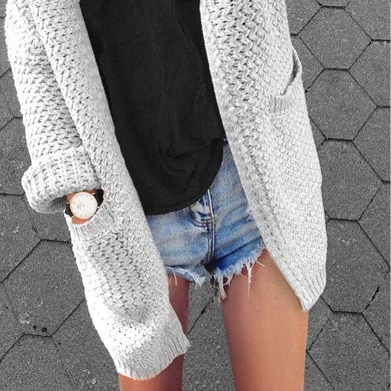 chunky oversized cardigan knitting inspiration