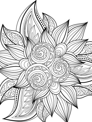 coloring printable adult pages holiday pdf cool easy crazy