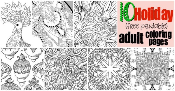 free printable holiday coloring pages # 5