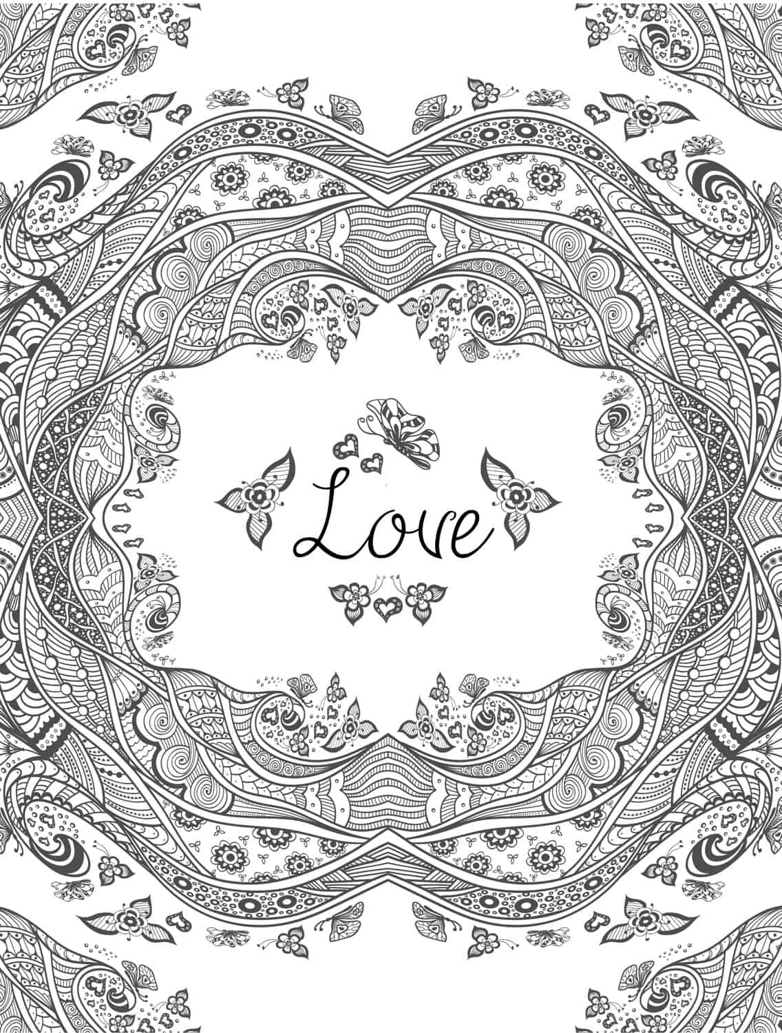 valentine coloring pages printable adult - photo#5