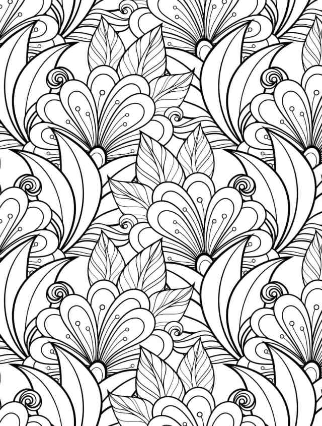 16 More Free Printable Adult Coloring Pages - Nerdy Mamma