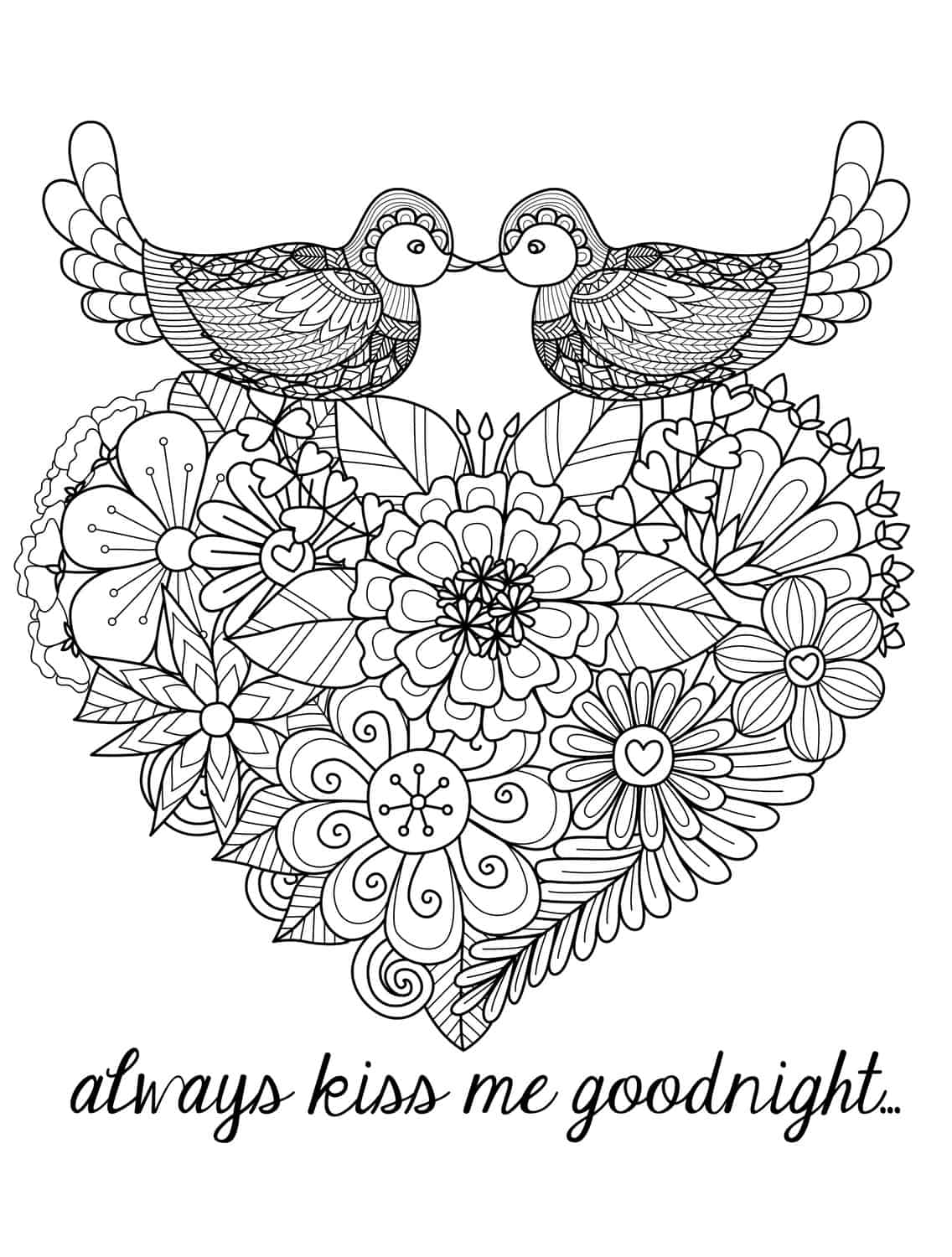 Heart Adult Coloring Book