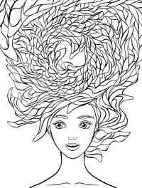 10 Crazy Hair Adult Coloring Pages - Page 2 of 12 - Nerdy ...