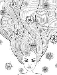 Crazy Hair Coloring Pages | Educational Coloring Pages