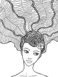 10 Crazy Hair Adult Coloring Pages - Page 3 of 12 - Nerdy ...